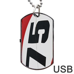 Car Auto Speed Vehicle Automobile Dog Tag Usb Flash (two Sides)