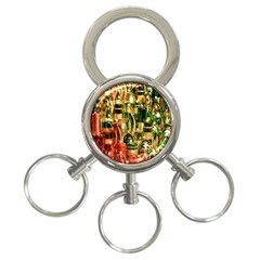 Candles Christmas Market Colors 3 Ring Key Chains