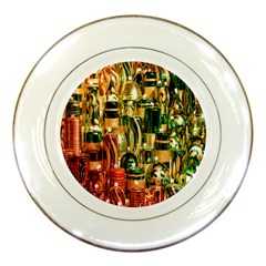 Candles Christmas Market Colors Porcelain Plates by Nexatart