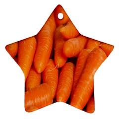 Carrots Vegetables Market Star Ornament (two Sides)