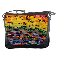 Car Painting Modern Art Messenger Bags