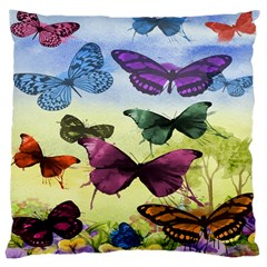 Butterfly Painting Art Graphic Large Cushion Case (two Sides)