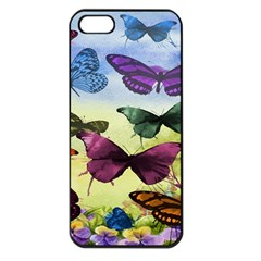 Butterfly Painting Art Graphic Apple Iphone 5 Seamless Case (black) by Nexatart