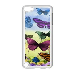 Butterfly Painting Art Graphic Apple Ipod Touch 5 Case (white)