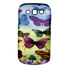 Butterfly Painting Art Graphic Samsung Galaxy S Iii Classic Hardshell Case (pc+silicone)