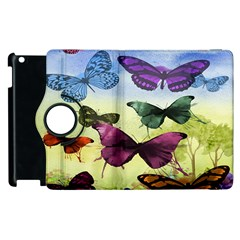 Butterfly Painting Art Graphic Apple Ipad 3/4 Flip 360 Case by Nexatart