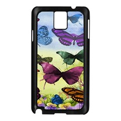 Butterfly Painting Art Graphic Samsung Galaxy Note 3 N9005 Case (black) by Nexatart