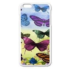 Butterfly Painting Art Graphic Apple Iphone 6 Plus/6s Plus Enamel White Case