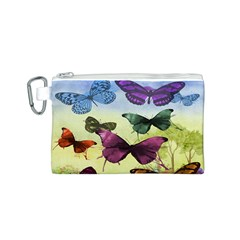 Butterfly Painting Art Graphic Canvas Cosmetic Bag (s) by Nexatart