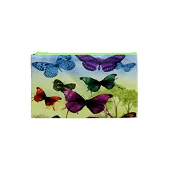 Butterfly Painting Art Graphic Cosmetic Bag (xs) by Nexatart