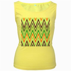 Chevrons Colourful Background Women s Yellow Tank Top by Nexatart