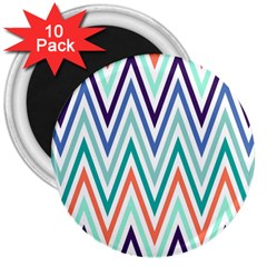 Chevrons Colourful Background 3  Magnets (10 Pack)