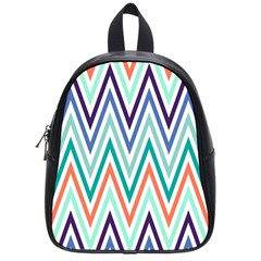 Chevrons Colourful Background School Bags (small)  by Nexatart