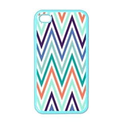 Chevrons Colourful Background Apple Iphone 4 Case (color)