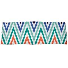 Chevrons Colourful Background Body Pillow Case Dakimakura (two Sides) by Nexatart