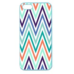 Chevrons Colourful Background Apple Seamless Iphone 5 Case (color) by Nexatart