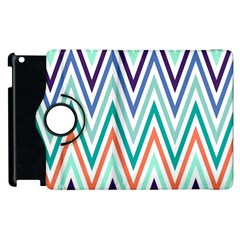 Chevrons Colourful Background Apple Ipad 2 Flip 360 Case
