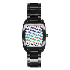 Chevrons Colourful Background Stainless Steel Barrel Watch by Nexatart