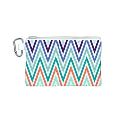 Chevrons Colourful Background Canvas Cosmetic Bag (s) by Nexatart