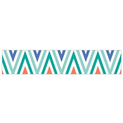 Chevrons Colourful Background Flano Scarf (small) by Nexatart