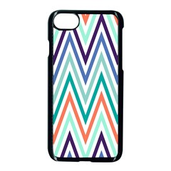 Chevrons Colourful Background Apple Iphone 7 Seamless Case (black) by Nexatart