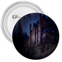 Castle Mystical Mood Moonlight 3  Buttons by Nexatart