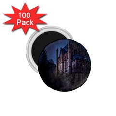 Castle Mystical Mood Moonlight 1 75  Magnets (100 Pack)  by Nexatart