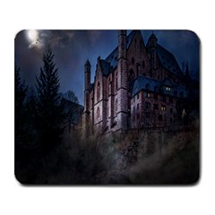 Castle Mystical Mood Moonlight Large Mousepads by Nexatart