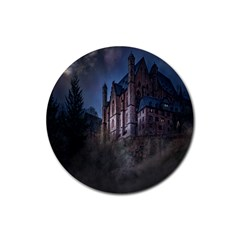 Castle Mystical Mood Moonlight Rubber Round Coaster (4 Pack)