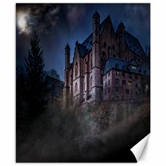 Castle Mystical Mood Moonlight Canvas 8  X 10  by Nexatart