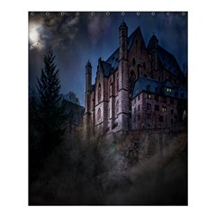 Castle Mystical Mood Moonlight Shower Curtain 60  X 72  (medium)  by Nexatart