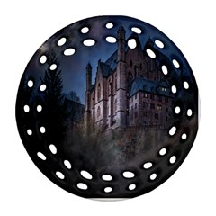 Castle Mystical Mood Moonlight Round Filigree Ornament (two Sides) by Nexatart