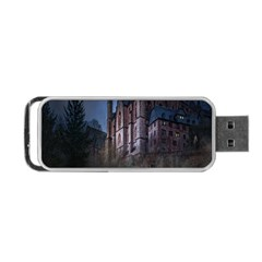 Castle Mystical Mood Moonlight Portable Usb Flash (two Sides) by Nexatart