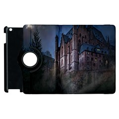 Castle Mystical Mood Moonlight Apple Ipad 3/4 Flip 360 Case by Nexatart