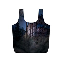 Castle Mystical Mood Moonlight Full Print Recycle Bags (s)
