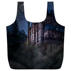 Castle Mystical Mood Moonlight Full Print Recycle Bags (l)  by Nexatart