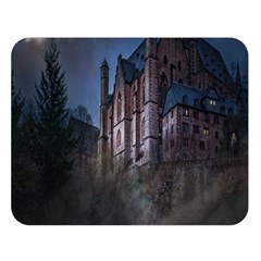 Castle Mystical Mood Moonlight Double Sided Flano Blanket (large)  by Nexatart