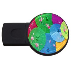 Chinese Umbrellas Screens Colorful Usb Flash Drive Round (4 Gb) by Nexatart