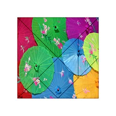 Chinese Umbrellas Screens Colorful Acrylic Tangram Puzzle (4  X 4 )