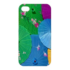Chinese Umbrellas Screens Colorful Apple Iphone 4/4s Premium Hardshell Case
