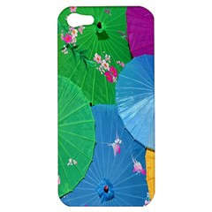 Chinese Umbrellas Screens Colorful Apple Iphone 5 Hardshell Case by Nexatart