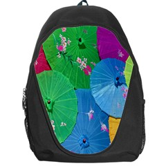 Chinese Umbrellas Screens Colorful Backpack Bag