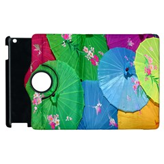 Chinese Umbrellas Screens Colorful Apple Ipad 2 Flip 360 Case