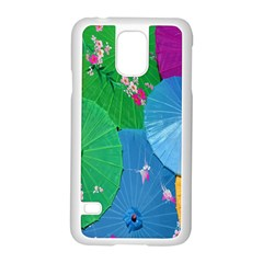 Chinese Umbrellas Screens Colorful Samsung Galaxy S5 Case (white) by Nexatart