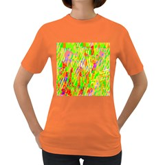 Cheerful Phantasmagoric Pattern Women s Dark T Shirt by Nexatart