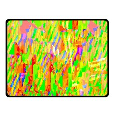 Cheerful Phantasmagoric Pattern Double Sided Fleece Blanket (small)