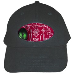 Christmas Decorations Retro Black Cap by Nexatart