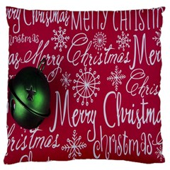 Christmas Decorations Retro Large Cushion Case (two Sides) by Nexatart