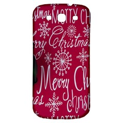 Christmas Decorations Retro Samsung Galaxy S3 S Iii Classic Hardshell Back Case