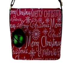 Christmas Decorations Retro Flap Messenger Bag (l)  by Nexatart